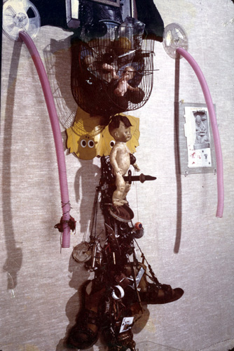 Al Neil, Assemblage from West Coast Lokas, 1972, photo Tod Greenaway